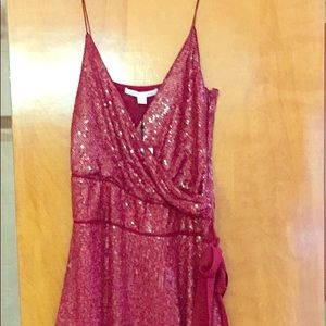 DVF sexy red sequin dress. NWT